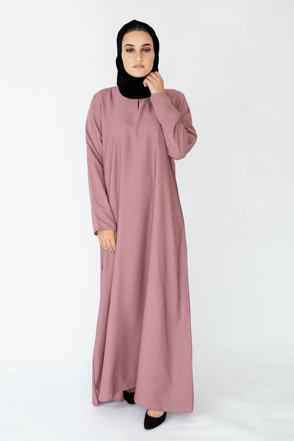 Blush Plain Closed Abaya
