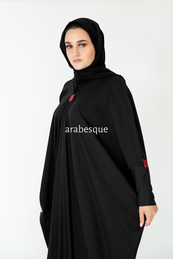 Sahara Red Abaya UK