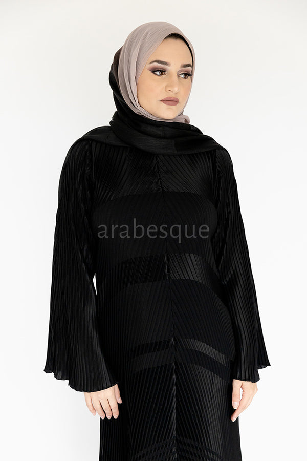 Jacquard Pleated Abaya