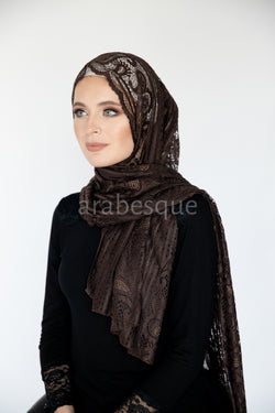 Tulip Lace With Diamante Hijab