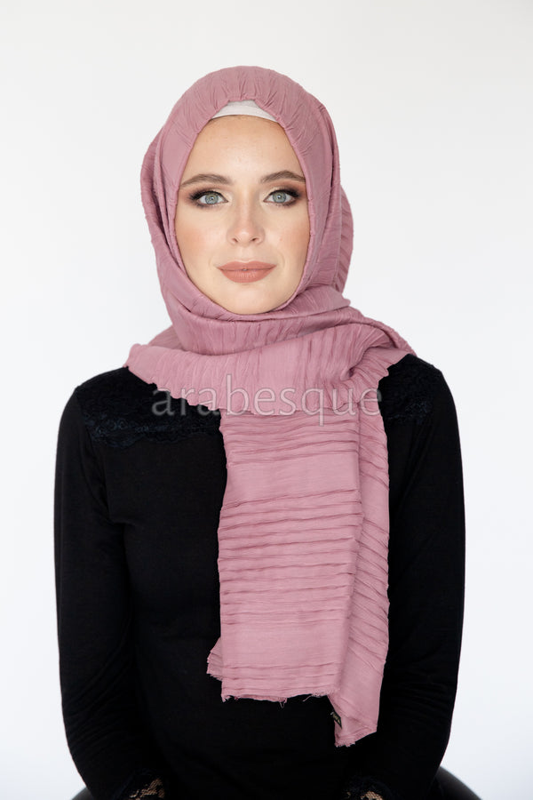 Crimped Long Hijab