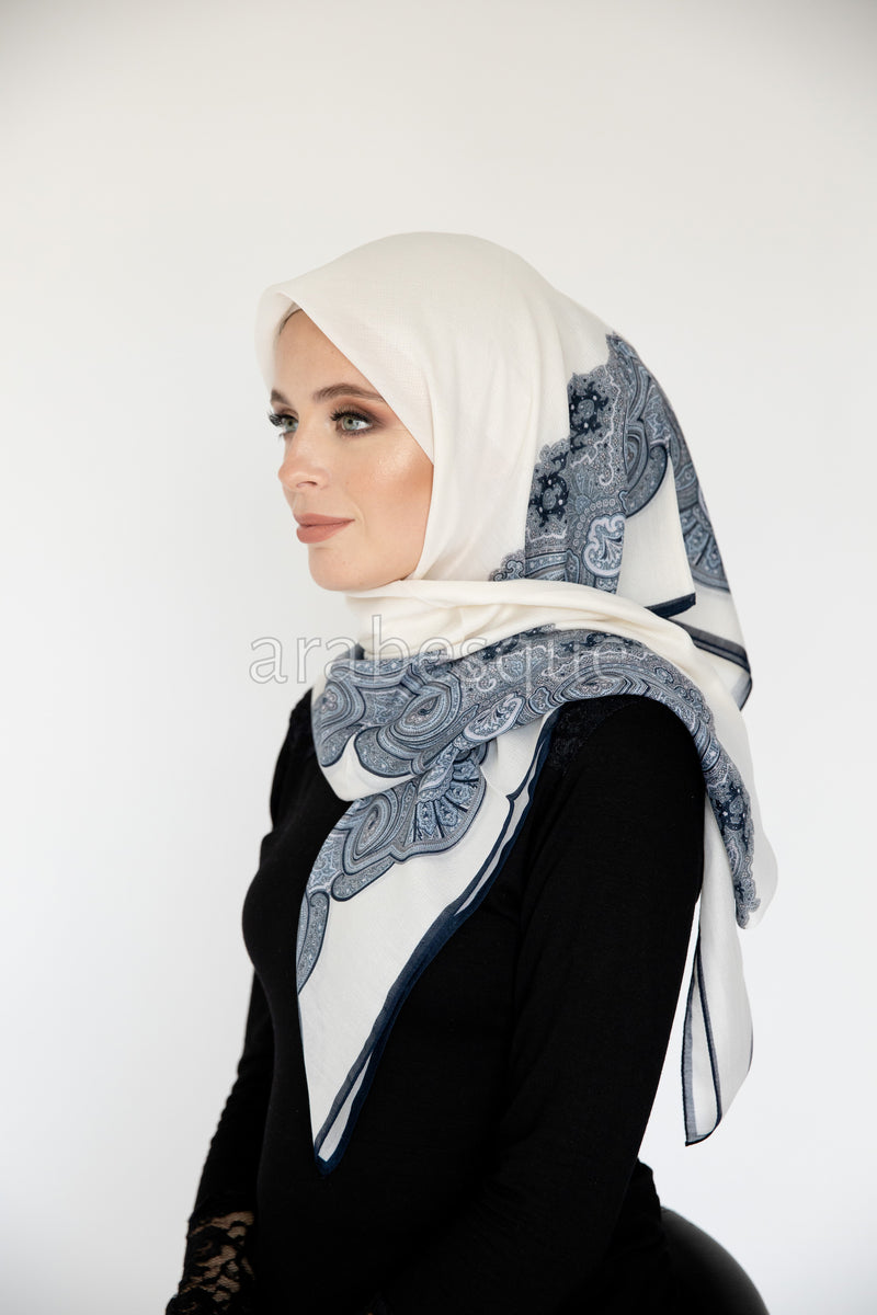 Noaa Square Hijab in Cream