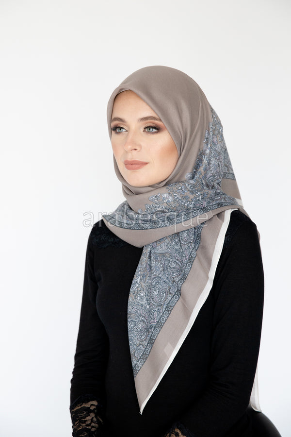 Doaa Square Hijab in Mink