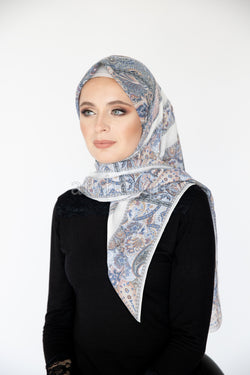 Eden Square Hijab in Cream