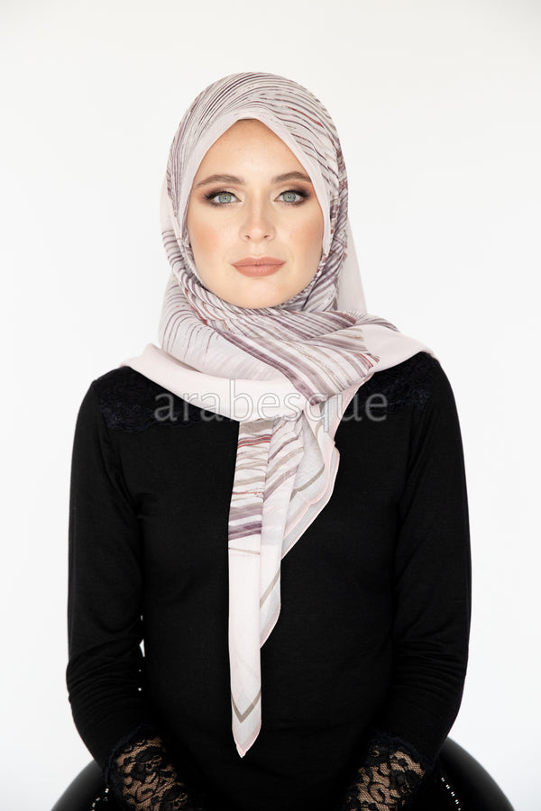 Feather Square Hijab