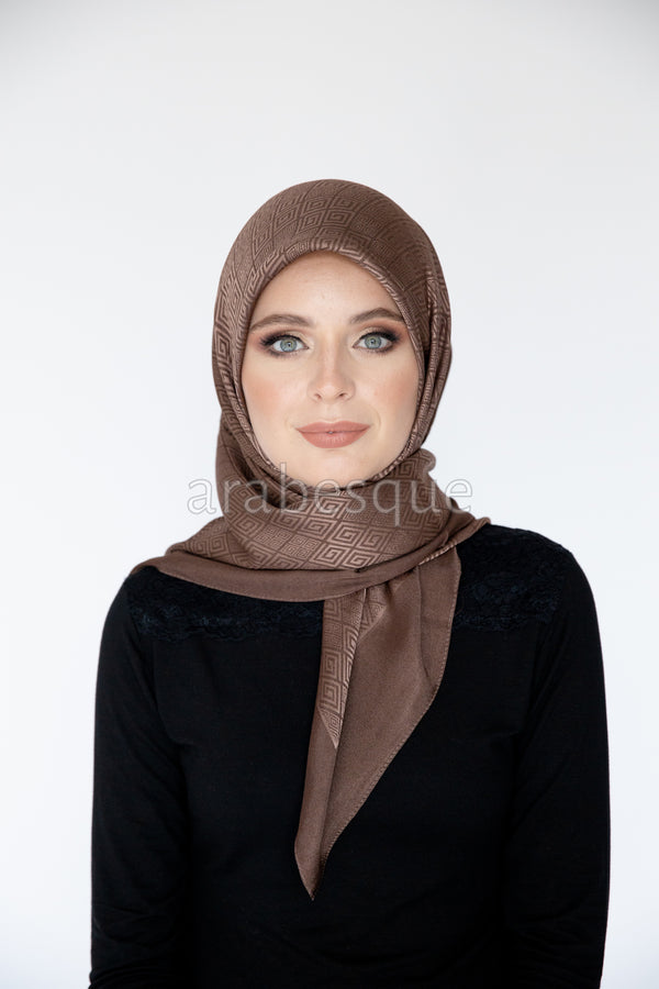 Meander Pattern Square Hijab