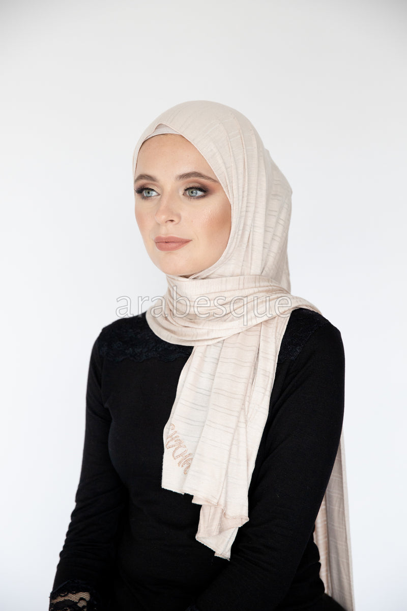 Kashkha Textured Jersey HIjab in Light Pink