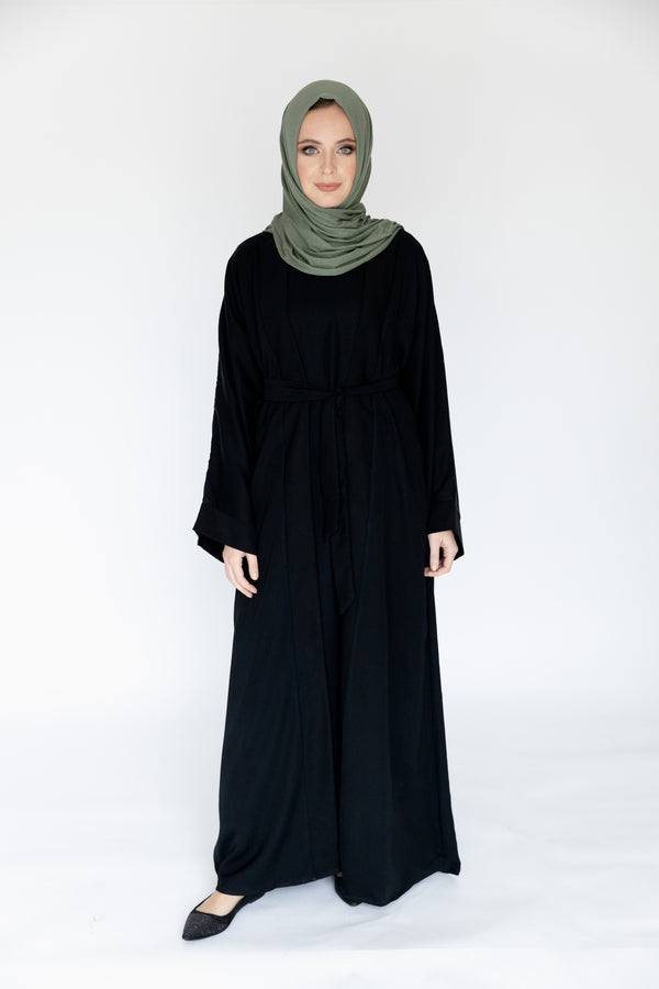 Double Black Abaya