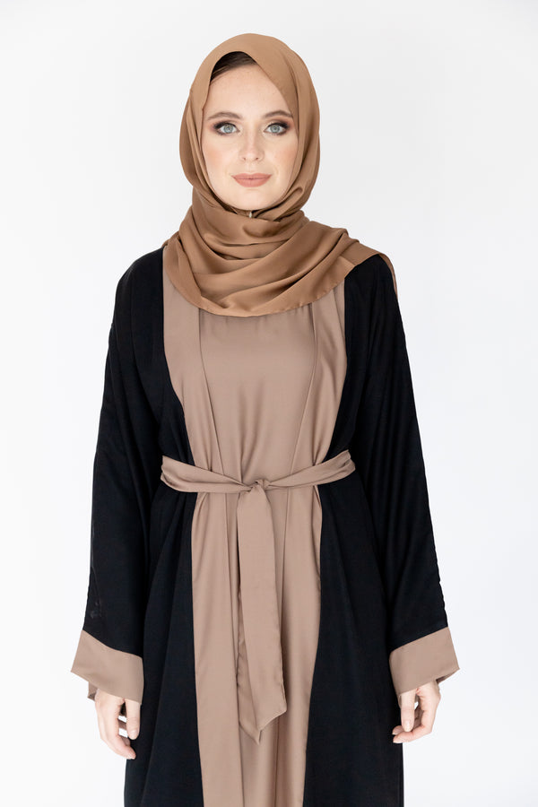 Double Brown Abaya