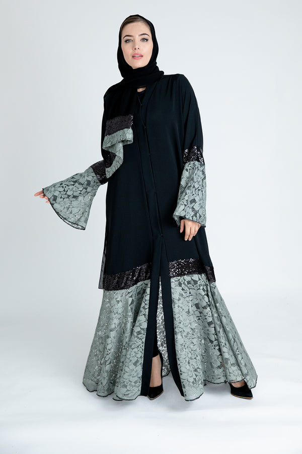 Taleen Green Abaya designs UK