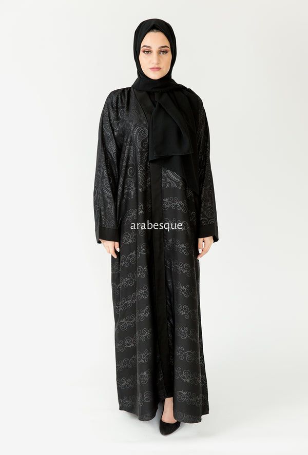 Jacquard Printed Closed Abaya Online