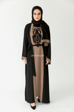 Layan Brown Closed Abaya Online