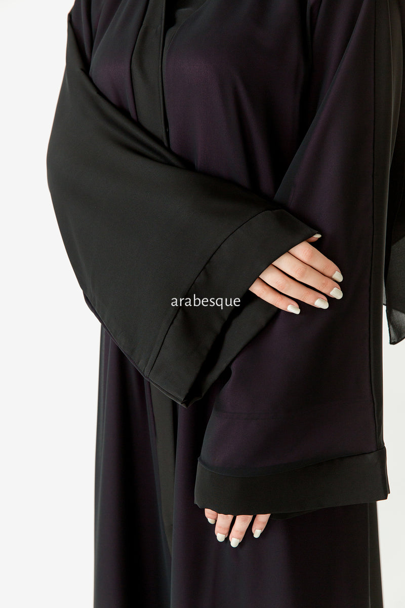 Purple Chiffon Abaya UK
