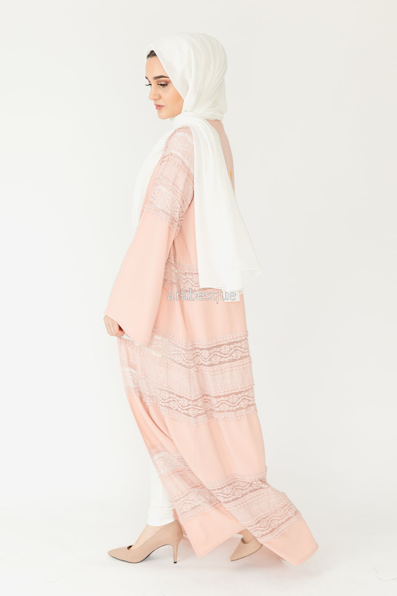 Qamar Blush Abaya UK