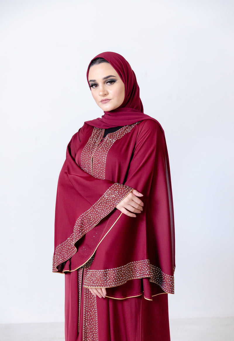 Jawahir Bell Sleeve Abaya UK