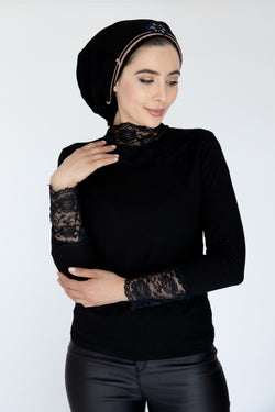 Black Lace trimmed top