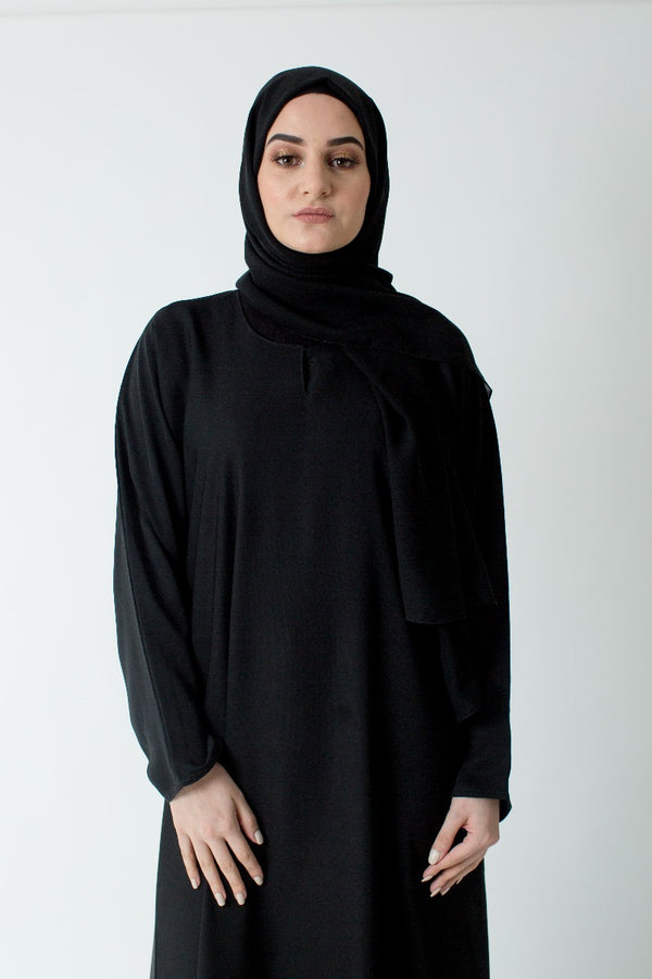 Black Plain Closed Abaya