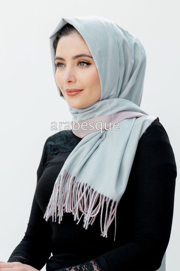 Cashmere Blend Shawl in Grey