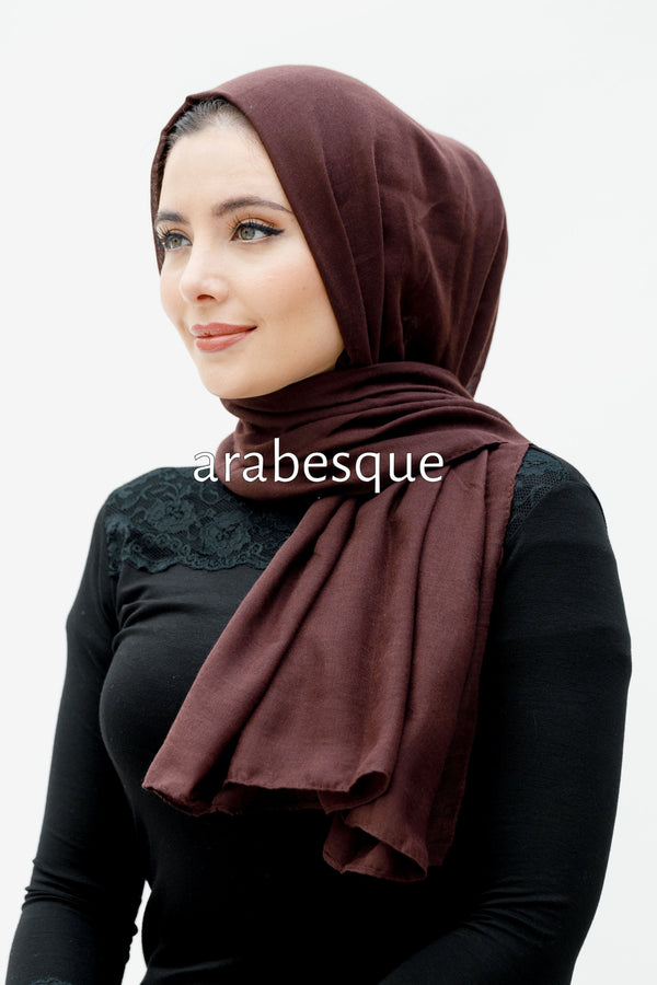 Modal/Viscose Smooth Blend Hijab in Burgundy