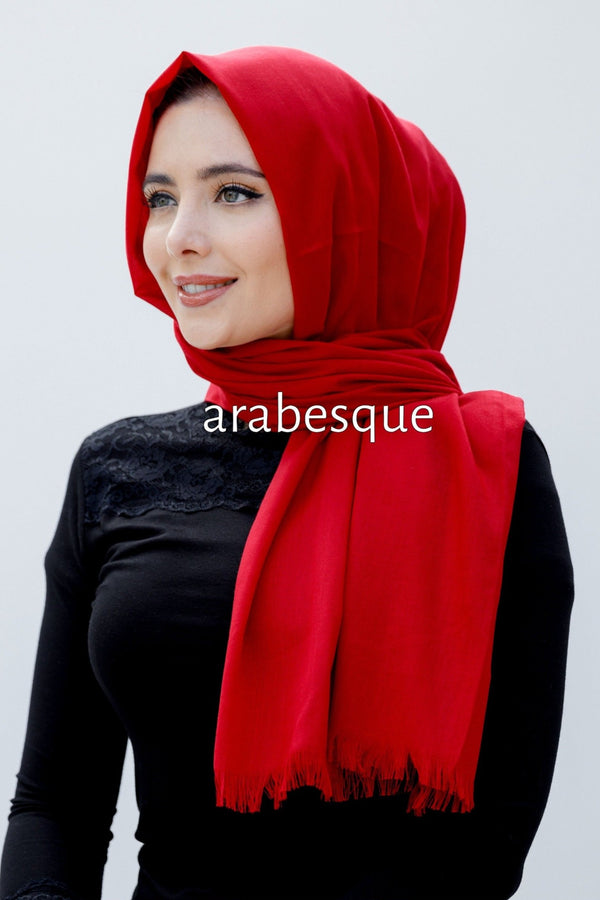Modal Plain Hijab in Red