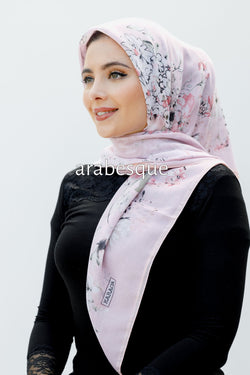Bloom Square Hijab in Pink