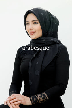 Sera Square Hijab in Black