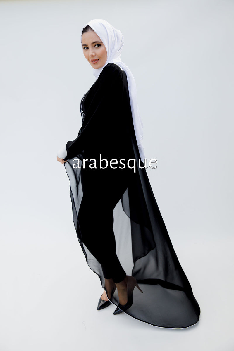 Chiffon Long Tail Cape