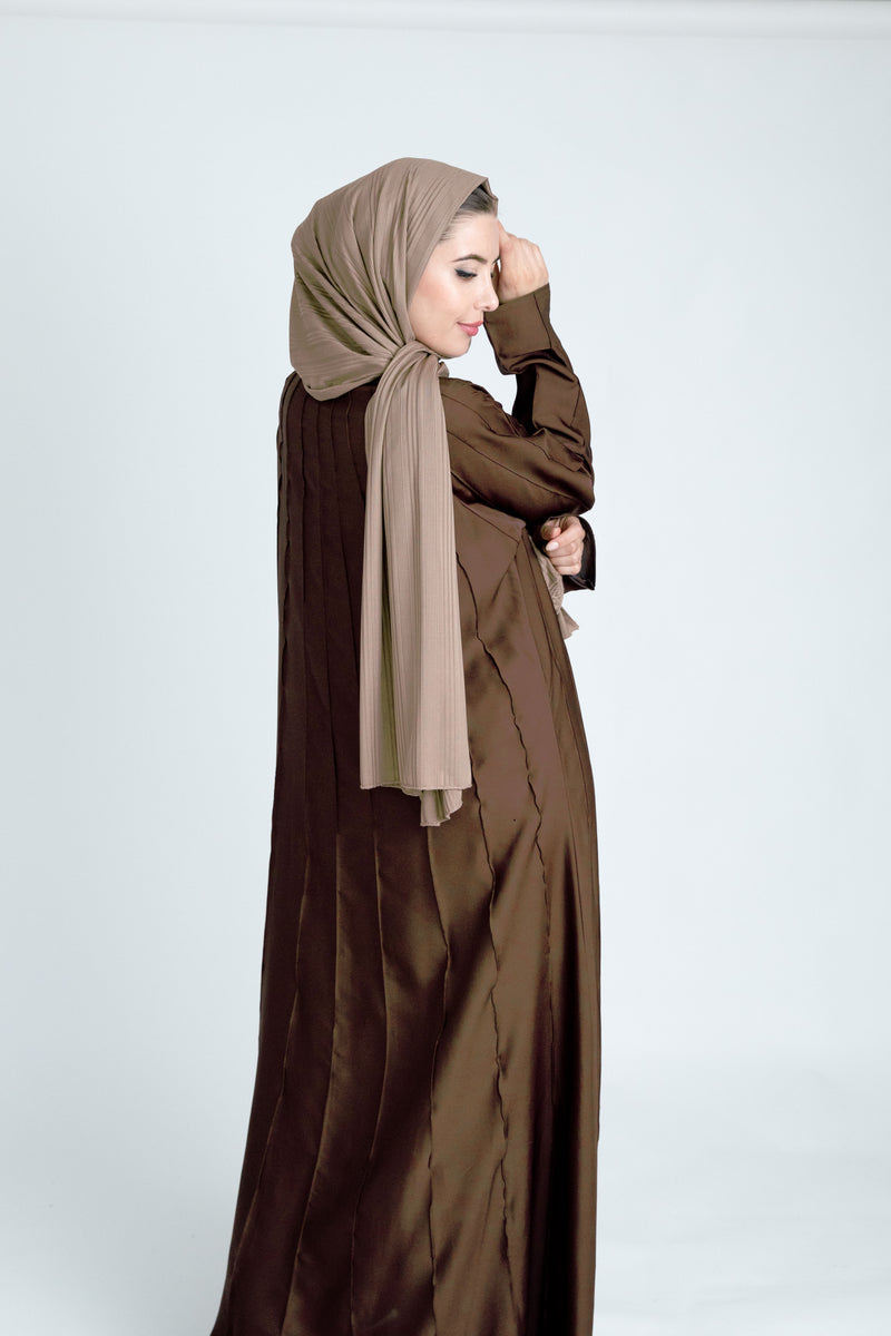 Aram Light Brown Abaya