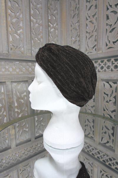 Dark Brown Velvet Turban Islamic Clothing Online