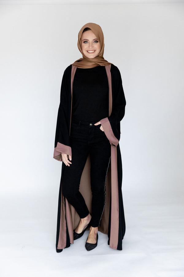 Double Blush Abaya