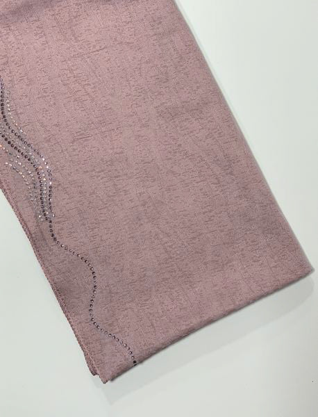 Dusty Pink Kashkha Wave Hijab Online Hijab UK