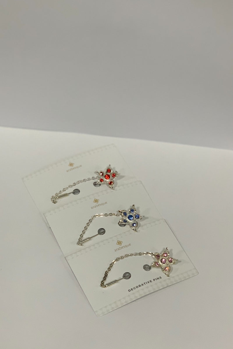 Crystal Diamante Hijab Pins - Pattern 1