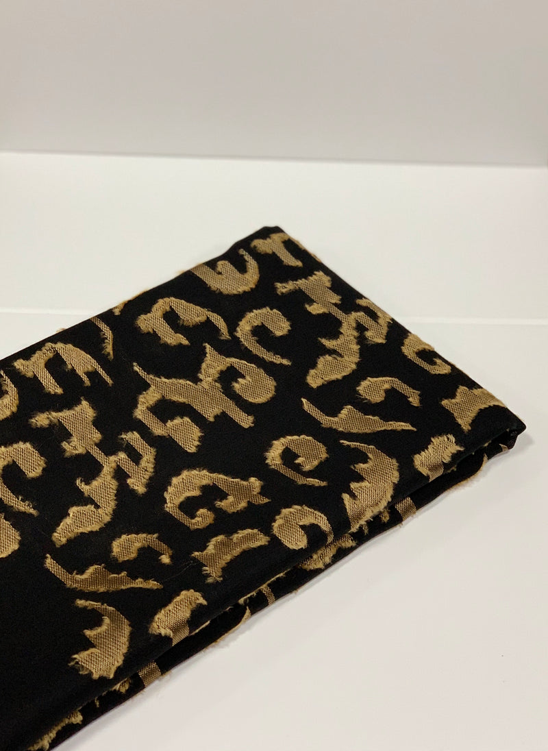 Black and Gold Square Hijab Online