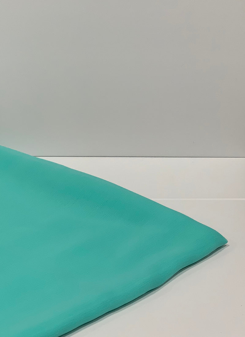 Turquoise Crepon Square Hijab UK