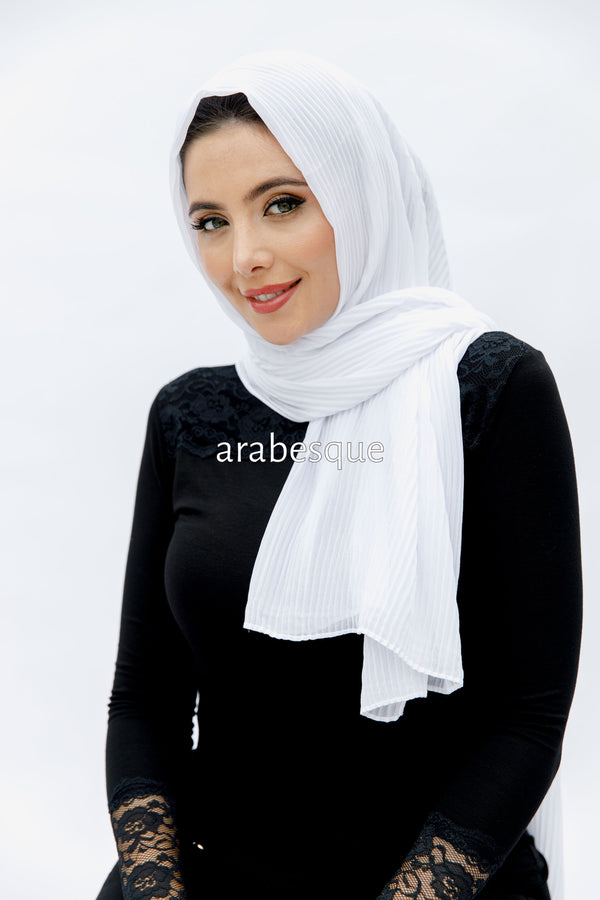 Pleated Georgette Hijab