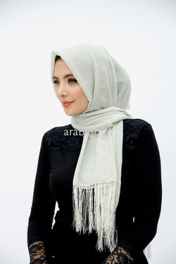 Sparkle Hijab in White