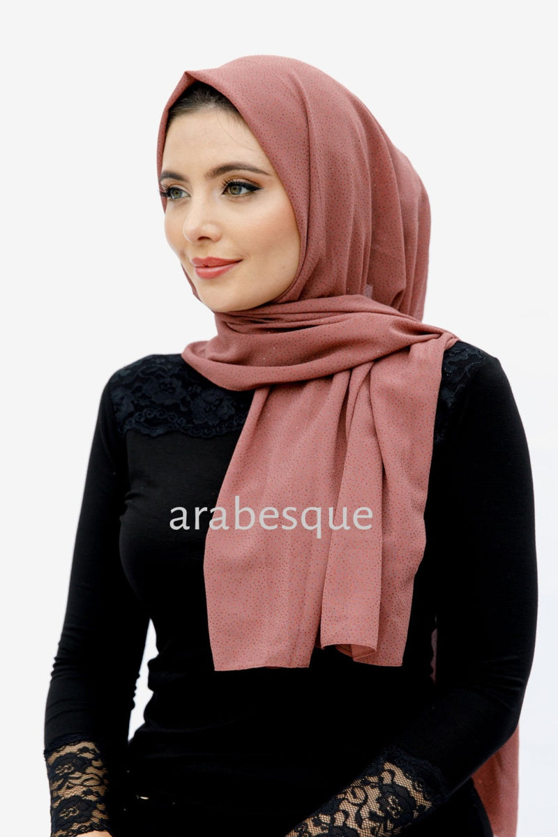 Glitter Hijab in Rouge