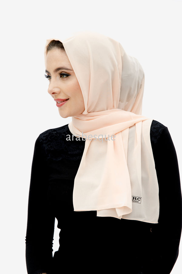 Nano Crepe Hijab in Peach