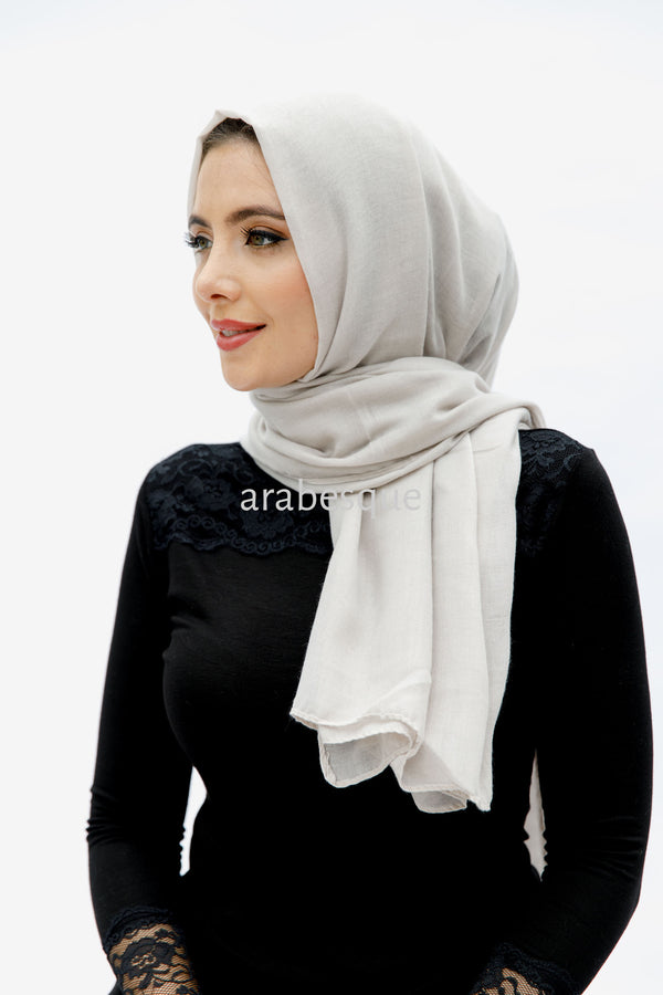 Viscose/Cotton Blend Hijab in White