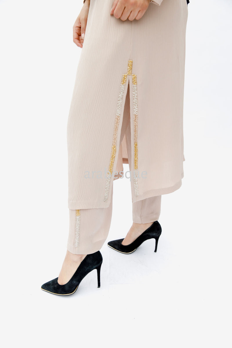 Nude Crepe Co-ord