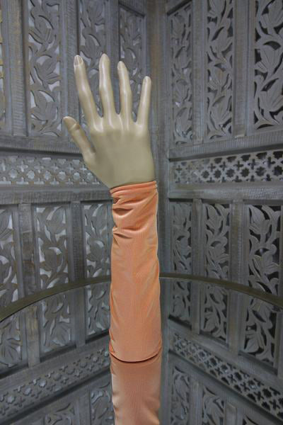 Orange Lycra Sleeve Islamic Clothing Accessories Online