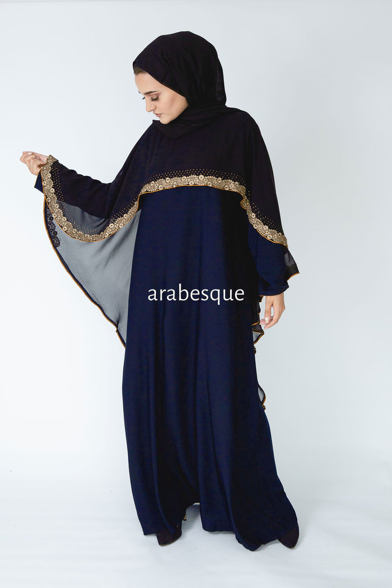 Mina Navy Closed Abaya UK