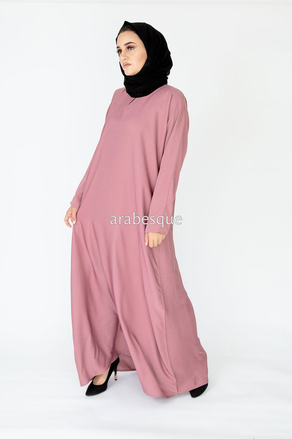 Pink Plain Closed Abaya UK
