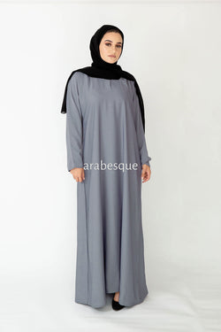 Blue Willow Plain Closed Abaya
