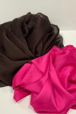 Square Plain Crepon Hijab UK