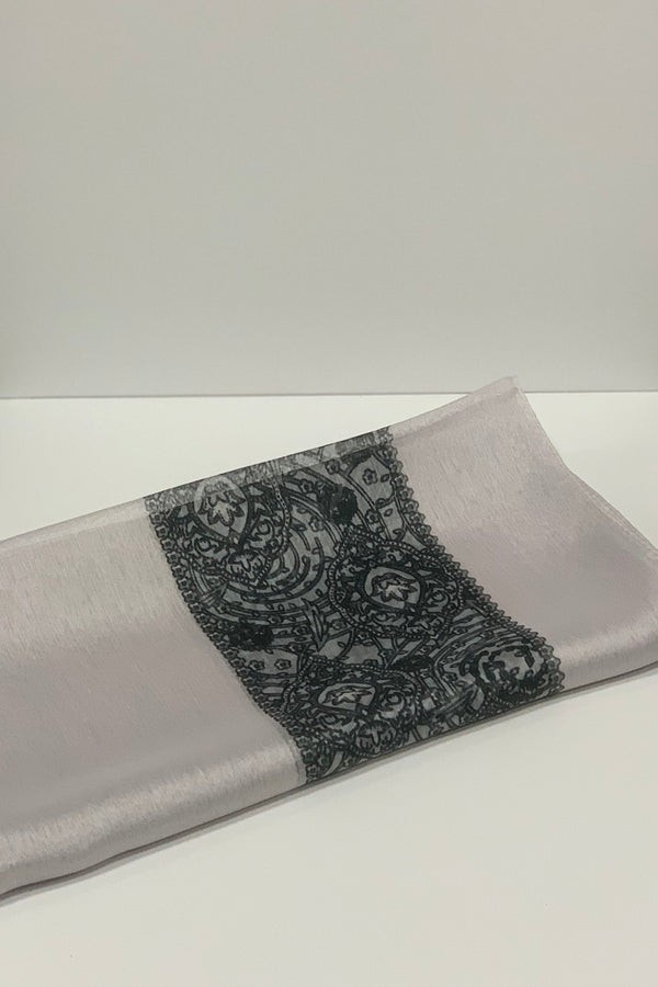 Floral Border Square Hijab UK