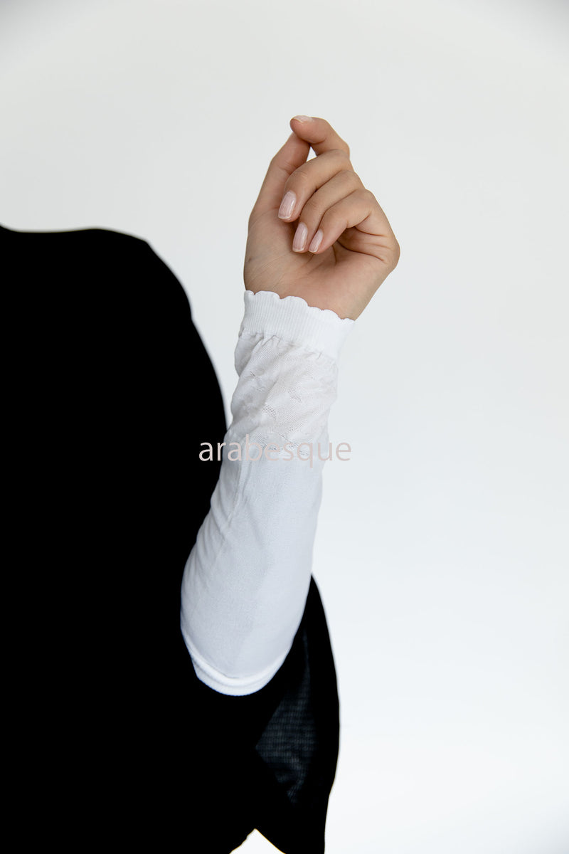 White Stretch Sleeves