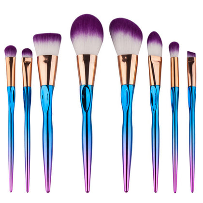 8 Piece Metallic Brush Set
