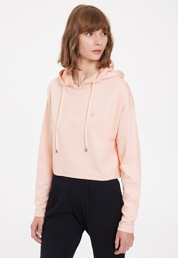 ESSENTIALS CROPPED HOODIE in Peachy Keen
