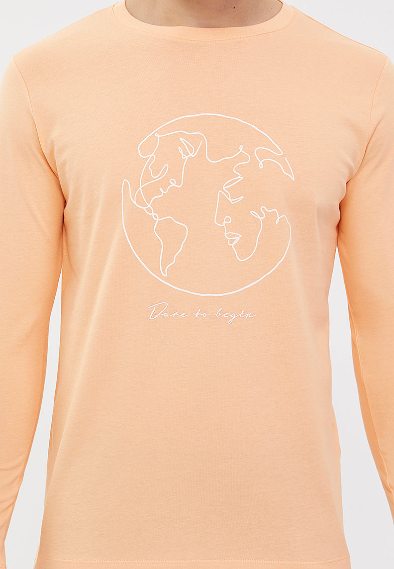 WORLD MAP TEE L/S